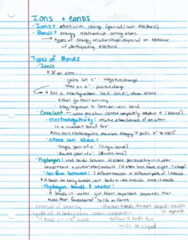 BIOL 204H Lecture 7: Ions and Bonds