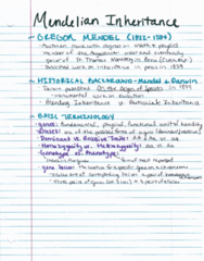 BIOL 204H Lecture 21: Mendelian Inheritance
