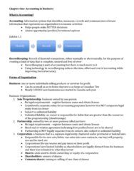 ACCT1001 Chapter Notes - Chapter Chapter 1: Mccain Foods, Legal Personality, Chief Financial Officer