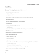 Health Sciences 1001A/B Study Guide - Midterm Guide: Canadian Mental Health Association, Smoking Cessation, Marc Lalonde