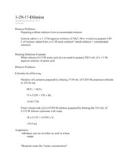 CHEM 107 Lecture Notes - Lecture 49: Potassium Chloride, Sodium Chloride, Molar Concentration