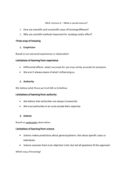 JMC 1100 Lecture Notes - Lecture 2: Mue, Knowledge Engineering