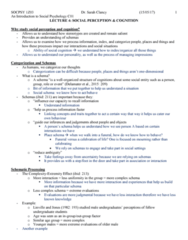 SOCPSY 1Z03 Lecture Notes - Lecture 4: Impression Formation, Trait Theory, Justin Trudeau