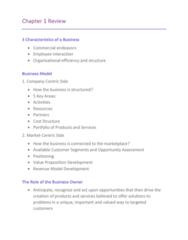 75-100 Study Guide - Midterm Guide: Capital Asset, Value Proposition, Sole Proprietorship