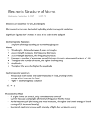 CHM135H1 Lecture Notes - Lecture 1: Microwave Oven, Work Function, Significant Figures