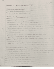 Psychology 46-116 Lecture 5: chapter 15