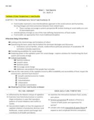 SOC 808 Study Guide - Midterm Guide: Horseradish, Vegetarianism, Kfc