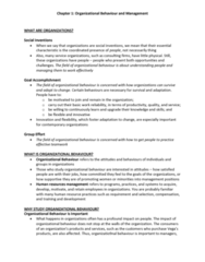 HROB 2090 Chapter Notes - Chapter 1: Behavioural Sciences, Ideal Type, Nepotism