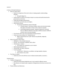 ART 9B Lecture Notes - Lecture 1: Patient Protection And Affordable Care Act, New Culture Movement, Culture War