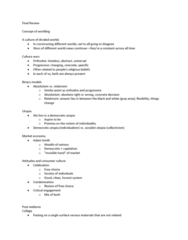 ART 9B Study Guide - Final Guide: George Gerbner, Risk Society, Moral Panic