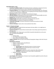 ECN 102 Lecture 5: ECON 1000 Chapter 2-3 notes