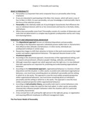 HROB 2090 Chapter Notes - Chapter 2: Albert Bandura, Reinforcement, Social Cognitive Theory