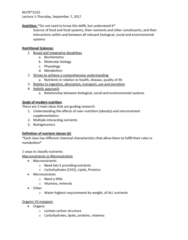 NUTR 3210 Lecture Notes - Lecture 1: Normal Distribution, Gastrointestinal Tract, Standard Deviation