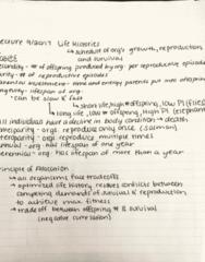RENR 205 Lecture 9: Life Histories