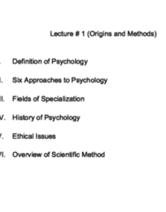PSY 110 Lecture Notes - Lecture 1: Pseudoscience, Family Therapy, Institutional Review Board