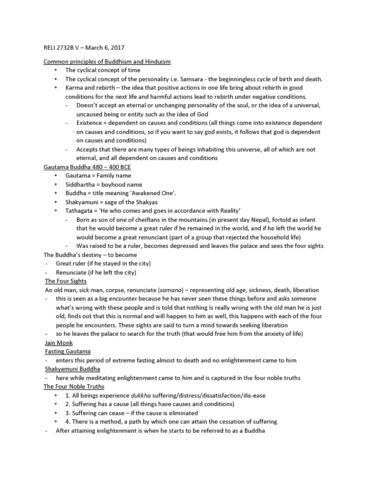 reli-2732-lecture-5-5-buddhist-perspective
