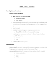 AFM101 Lecture Notes - Lecture 3: Deferral, Retained Earnings, Share Capital