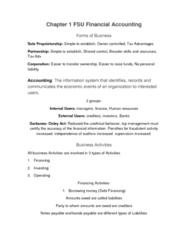 ACG-2021 Lecture Notes - Lecture 1: Sole Proprietorship, Human Resources, Net Income