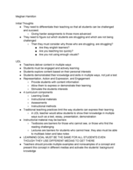 EDP 256 Chapter Notes - Chapter 1: Universal Design, Differentiated Instruction, Assistive Technology