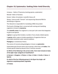 BIOL 150 Lecture Notes - Lecture 19: Carl Linnaeus, Thymine, Uracil