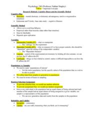 PSY 240 Lecture Notes - Lecture 1: Scientific Method, Random Assignment, Daniel Kahneman