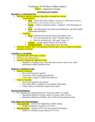 PSY 240 Lecture Notes - Lecture 3: Type I And Type Ii Errors, Statistical Inference, Inductive Reasoning