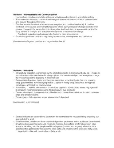 study guides for biology at queen s university page 3 oneclass rh oneclass com Biology Workbook Chapter 13 3 Answer Key Holt Biology Study Guide