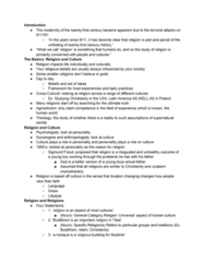 RS 100 Chapter Notes - Chapter 1: Sigmund Freud, Agnosticism, Bsc Young Boys