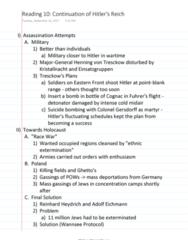 HISTORY 2500 Chapter Notes - Chapter 6: Henning Von Tresckow, Reinhard Heydrich, Adolf Eichmann