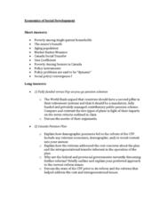 ECON 241 Final: Exam Review