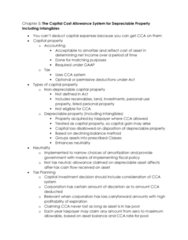 MGAC50H3 Chapter Notes - Chapter 5: Capital Cost Allowance, Capital Cost, Pro Rata