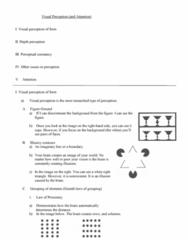 PSY 110 Lecture Notes - Lecture 4: Binocular Disparity, Illusory Contours, Depth Perception