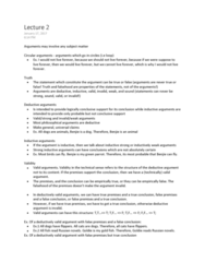 PHIL 2003 Lecture Notes - Lecture 2: Deductive Reasoning, Goldfish, W. M. Keck Observatory