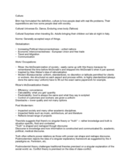SOCIOL 1A06 Lecture Notes - Lecture 2: Mcdonaldization, Postmodern Architecture, Ludwig Mies Van Der Rohe