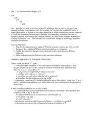 MIS 302F Lecture Notes - Lecture 1: Profit Margin, Net Present Value, Chemical Industry