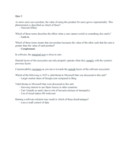 MIS 302F Study Guide - Quiz Guide: Google Search, Marginal Cost