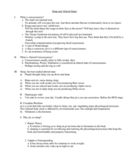 PSY 110 Lecture Notes - Lecture 5: Unconscious Mind, Brainstem, Cerebral Cortex