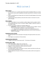 RELS 161 Lecture Notes - Lecture 2: Jean Baudrillard, New Media, Marshall Mcluhan