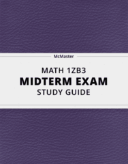MATH 1ZB3- Midterm Exam Guide - Comprehensive Notes for the exam ( 38 pages long!)