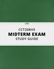 CCT208H5- Midterm Exam Guide - Comprehensive Notes for the exam ( 19 pages long!)