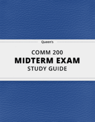 COMM 200- Midterm Exam Guide - Comprehensive Notes for the exam ( 12 pages long!)