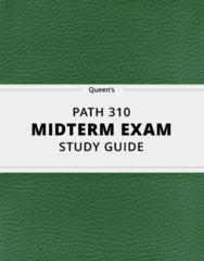 PATH 310- Midterm Exam Guide - Comprehensive Notes for the exam ( 20 pages long!)