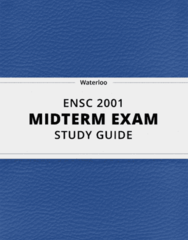 ENSC 2001- Midterm Exam Guide - Comprehensive Notes for the exam ( 14 pages long!)