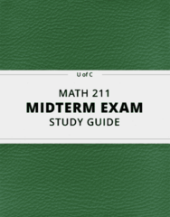MATH 211- Midterm Exam Guide - Comprehensive Notes for the exam ( 73 pages long!)