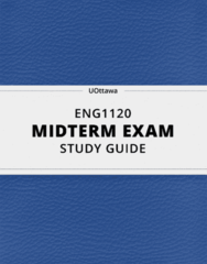 ENG1120- Midterm Exam Guide - Comprehensive Notes for the exam ( 19 pages long!)