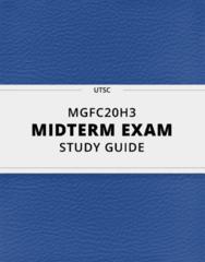 MGFC20H3- Midterm Exam Guide - Comprehensive Notes for the exam ( 12 pages long!)