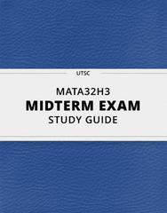 MATA32H3- Midterm Exam Guide - Comprehensive Notes for the exam ( 119 pages long!)