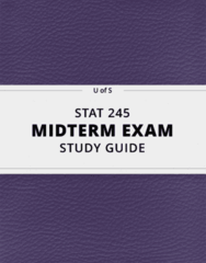 STAT 245- Midterm Exam Guide - Comprehensive Notes for the exam ( 32 pages long!)