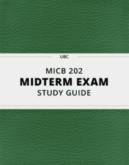 MICB 202- Midterm Exam Guide - Comprehensive Notes for the exam ( 29 pages long!)
