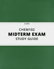 CHEM102- Midterm Exam Guide - Comprehensive Notes for the exam ( 47 pages long!)
